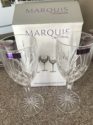 NEW Set of 4 Marquis By Waterford Brookside - All Purpose Wine Glasses - NIB
