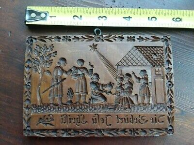 Springerle Gingerbread Nativity Mold RETIRED NEW House on the Hill