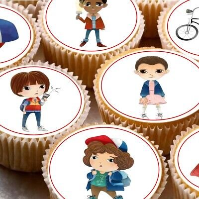 24 Stranger things inspired edible icing cake toppers decorations