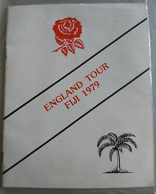 FIJI v ENGLAND 29 May 1979 at Suva RUGBY PROGRAMME