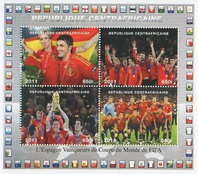2010 Fifa World Cup Spain Spanish Football Team Winners Mnh Stamp Sheetlet