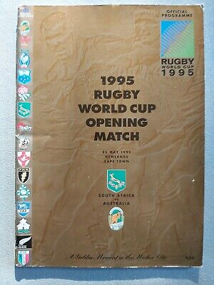 SOUTH AFRICA v AUSTRALIA RUGBY WORLD CUP 1995 PROGRAMME