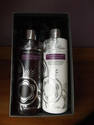 Bath House Artisans  Pomegranate Blackberry Hand Wash/ Hand Cream Gift Set