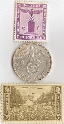 -*WW2 -  SILVER / STEEL - *us   and - *german coin / stamps++