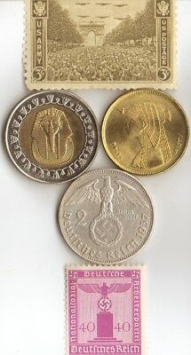"*egyp. *king ""Tut"" and ""CLEO"" + *WW2 - *german  SILVER  EAGLE coins/stamps"