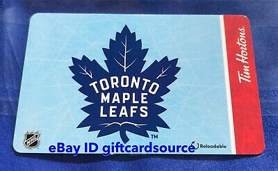 Tim Hortons Gift Card 2019 Toronto Maple Leafs Nhl No Value Fd67562 New Canada
