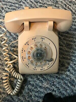 Vintage Bell System Made by Western Electric Beige Rotary Phone 500DM