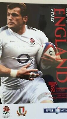 England v Italy, 12th February 2011 - Six Nations Match Programme.