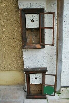 Two Antique American Ogee Wall Clocks