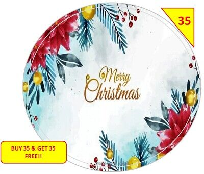 70 Merry Christmas Xmas  Stickers NON PERSONALISED