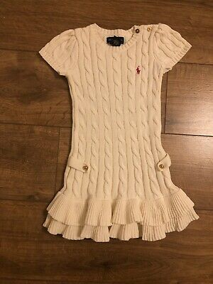 Ralph Lauren Girls Knited Dress Size 2-3 Years VGC