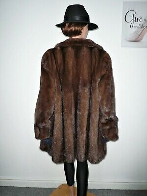 Real SAGA Ranch Mink Fur Coat Jacket Норка Nerz Vison Sable Hue 14 - 16 - 18