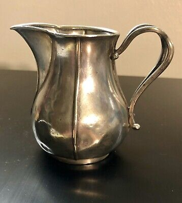 Very Rare 1865 Antique Berndorf Metalware Quality SilverPlate Creamer Pitcher 3""