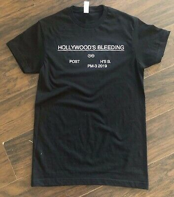 Hollywood's Bleeding Post Malone Black T-Shirt  Circles Writing on the Wall Wow