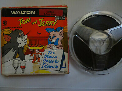 """Super 8mm color sound 1x200'' """"THE MOUSE COMES TO DINNER"""" Tom & Jerry Orig. Box"""