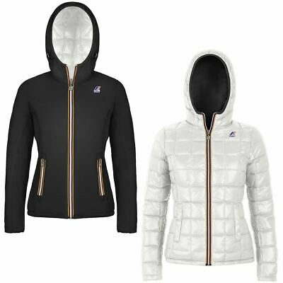 Giubbino K-way bimba Lily thermo plus double black, white snow AI19