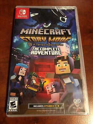 Minecraft: Story Mode - The Complete Adventure (Nintendo Switch, 2017) Brand New