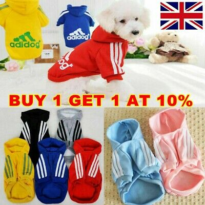 Pet Dog Winter Clothes Puppy Cat Hooded Coat Jacket Hooded Sweater Sportwear UK