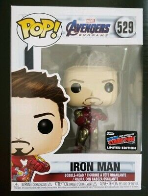 NYCC 2019 FUNKO POP! AVENGERS ENDGAME IRON MAN GAUNTLET Official sticker Mint.