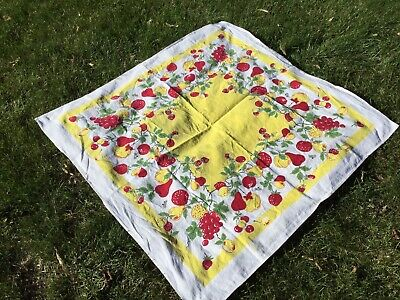 Vintage Lot 10 40's-50's Tablecloths Fruit, Floral, MCM Not Perfect Not Cutters