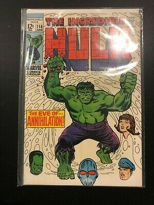 The Incredible Hulk #116 vs. THE LEADER! 1969 Stan Lee! Great Condition!