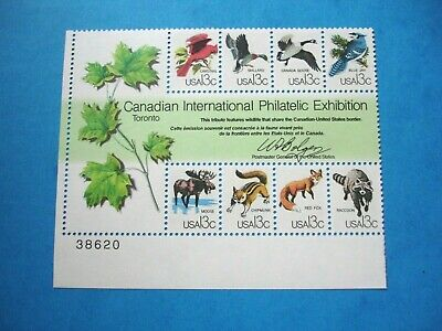 Canadian Intl Philatelic Exhibition- Plate # Block of 8 - MNH US Postage Stamps