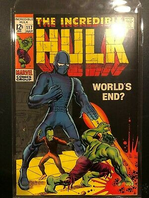 The Incredible Hulk #117 THE LEADER! 1969 WORLD'S END? Stan Lee Great Condition!