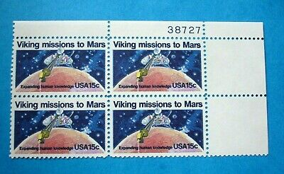 Viking Mission to Mars - Plate # Block of 4 MNH US Postage Stamps