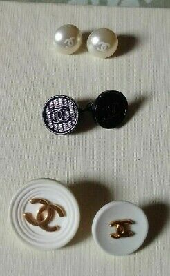 Chanel Buttons*Authentic*Mixed Lot*Excellent Condition*4 Buttons And 1 Cufflink