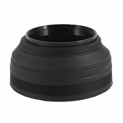 DSLR SLR Camera 67mm Screw-in 3-in-1 3-Stage Rubber Collapsible Lens Hood Shade