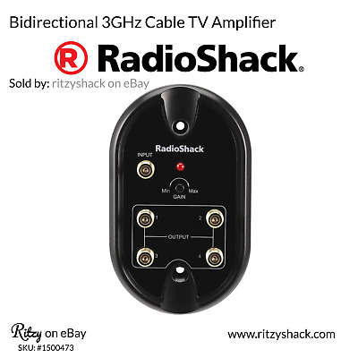 Radioshack 3GHz Cable/Antenna TV Amplifier Booster Bidirectional 1-In/4-Out New