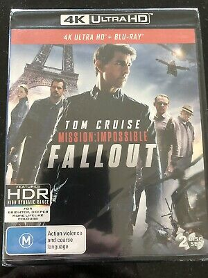 Mission Impossible: Fallout****4K Ultra Hd Blu-Ray***Region Free****New & Sealed