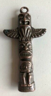 Vintage Totem Pole Charm Pendant – Made In Canada.