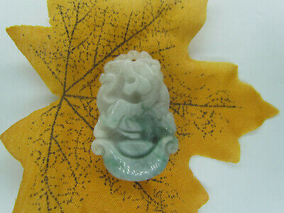 100% Chinese Hand-carved aristocratic wearing Jadeite jade pendant Zodiac tiger
