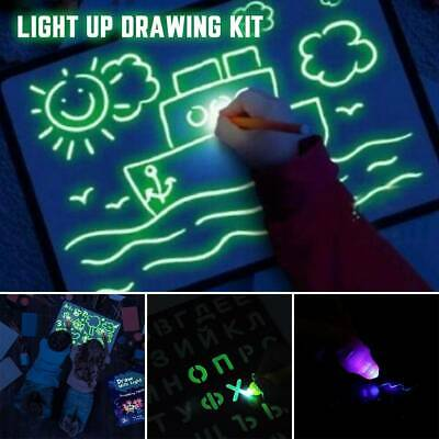 Draw With Light Fun And Developing Toy Drawing Board Magic Draw Educational+ Pen