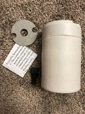 Satco 90-428 Porcelain Three-Way Turn Knob Mogul Base Socket W/ Hickey, 90428