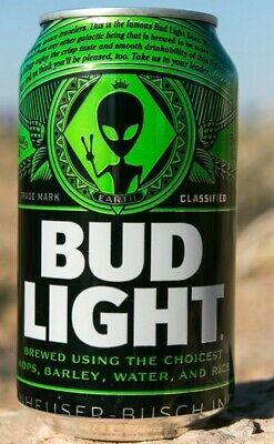 Bud Light Area 51 Green Alien Can BRAND NEW Very Limited Collectors Item