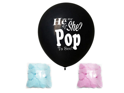 36' Gender Reveal  Balloon Free Confetti Baby Shower Party Melb Stock