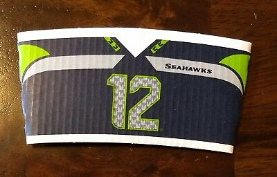 Starbucks Seattle Seahawks COFFEE SLEEVE #12 12th Man 2017 Cards NEW Boom