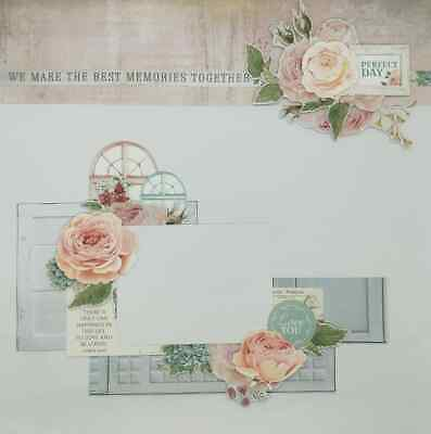 "Handmade Mixed Media 12"" x 12"" Scrapbook Page - Perfect Day!"
