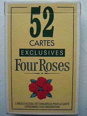 Jeux De Cartes Four Roses Playing Cards Publicitaire No Ricard