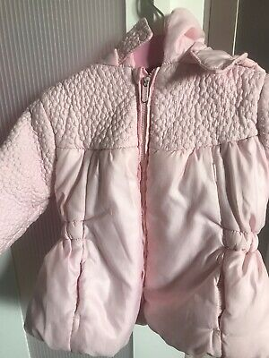 tutto piccolo baby girl pink coat 12/18 months designer
