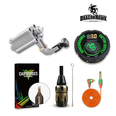 Top Rotary Machine Tattoo Kit Cartridge Needles Set LCD Power Equipment Supplie