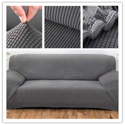 1-4 Seater Sofa Settee Covers Couch Slipcovers Stretch Elastic Fabric washable