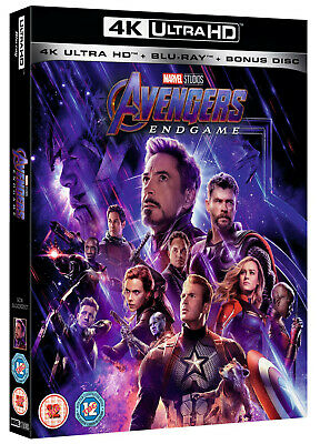 Marvel Studios Avengers Endgame 4K Ultra Hd + Blu Ray + Bonus Disc New & Sealed