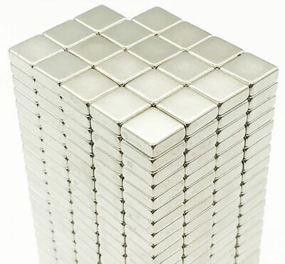 N35 Square NEODYMIUM MAGNETS Blocks Cube ~ 4mm, 6mm, 8mm, 10mm, 15mm x 2mm thick