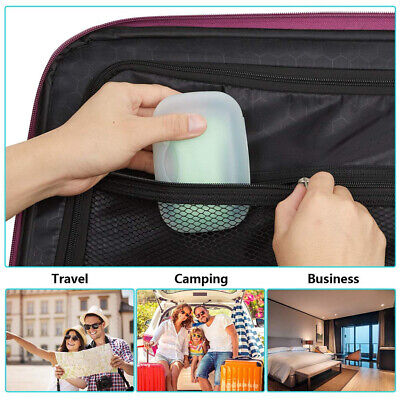 AU_ NEW Portable Soap Dish Holder Storage Box Bathroom Travel Camping Case Conta