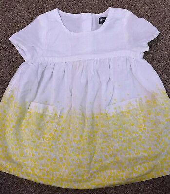 Beautiful Yellow Floral baby girls GAP dress Age 3-6 Months