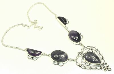 "Amethyst Gemstone Ethnic Jewlery Handmade Necklace Size-18"" RNGT-383"