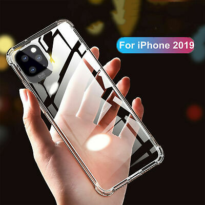 For iPhone 11 Pro XS Max XR X 8 7 Plus Shockproof Silicone Clear Slim Case Cover